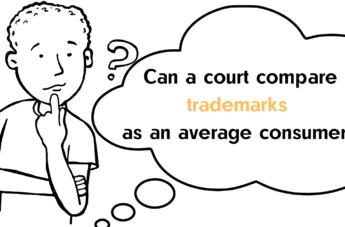 Can a court compare trademarks as an average consumer?
